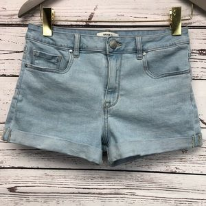 Forever 21 denim roll up high rise shorts